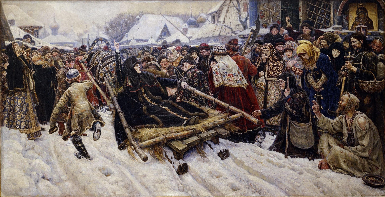 Рис. 1. «Боярыня Морозова», Василий Суриков (1887 г., Третьяковская галлерея, г. Москва).