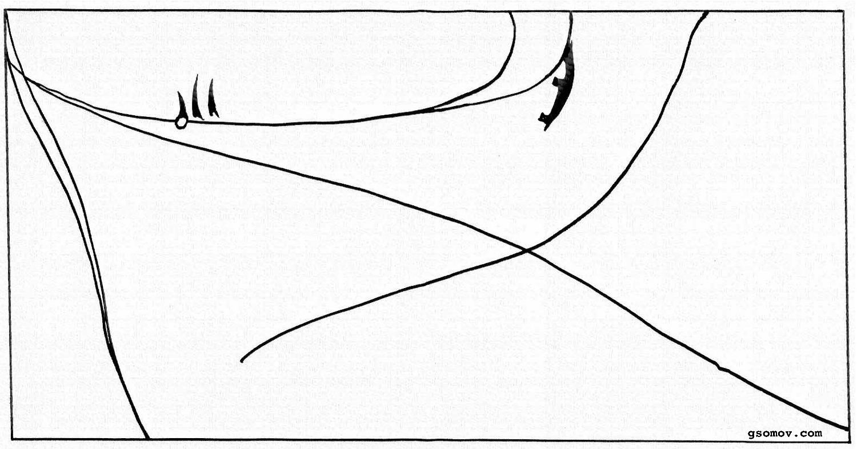 Рис. 12. «Боярыня Морозова». Важный символ – стрелецкие топоры и система организующих линий, усиливающая этот знак.