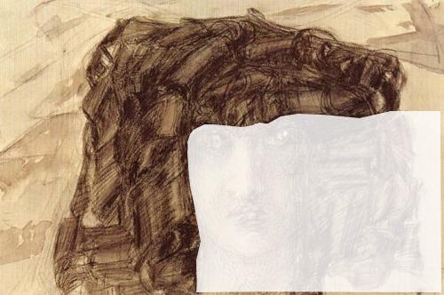 """Рис. 2. Михаил Врубель, """"Голова Демона"""". Коннотация змеиной головы, развернутой вправо."""