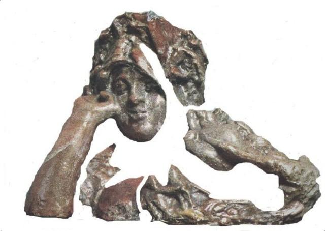 """Рис. 4. Михаил Врубель, """"Весна"""". Блестящие поверхности скульптуры формируют вешние воды."""